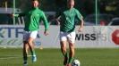 Футболистите на Пирин загряват преди сблъсъка с Берое за Купата