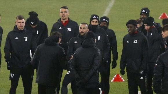 ЦСКА-София с официална тренировка преди мача за ЛЕ с Йънг Бойс