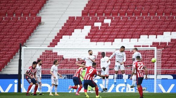Бензема спаси Реал Мадрид с късен гол срещу Атлетико